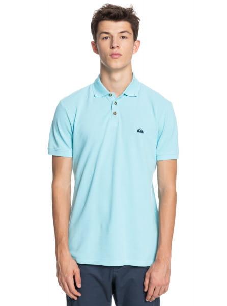 Голубой мужская рубашка-поло loia