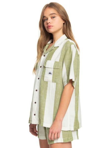 Жен./Одежда/Блузы и рубашки/Рубашки с коротким рукавом Женская льняная рубашка с коротким рукавом Destination Trip