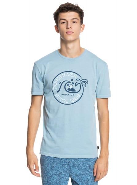 Бирюзовый мужская футболка into the wide