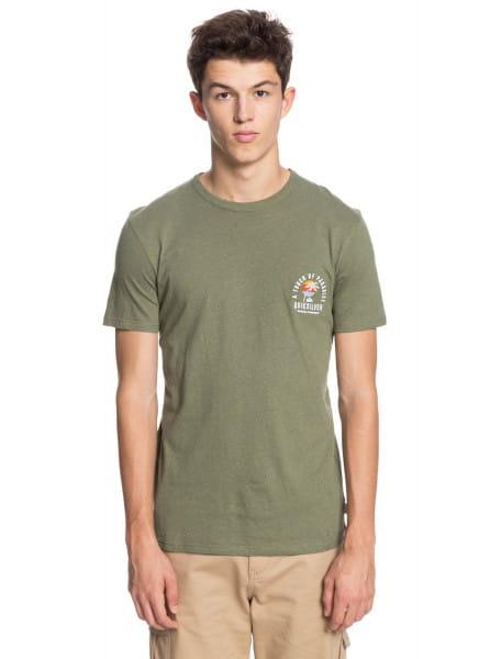 Зеленый мужская футболка beal