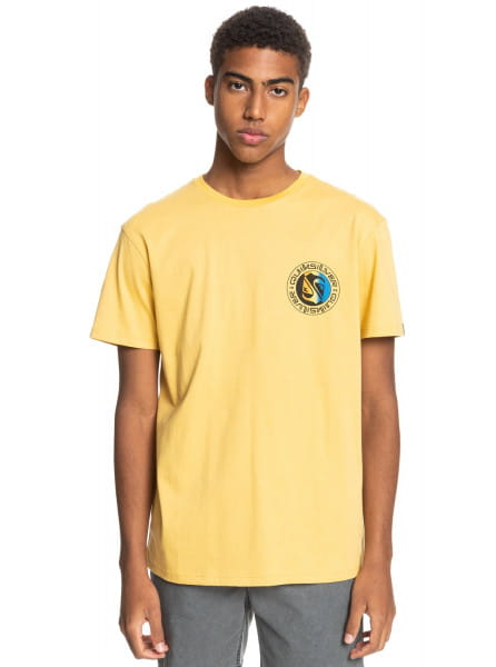 Желтый мужская футболка mellow phonic
