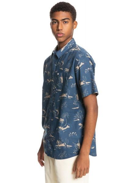 Муж./Одежда/Рубашки/Рубашки с коротким рукавом Мужская рубашка с коротким рукавом Endless Trip