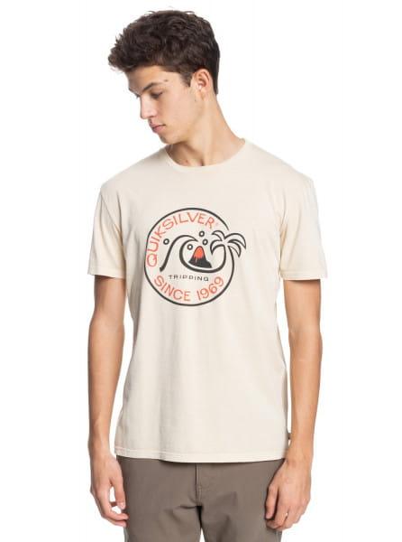 Бежевый мужская футболка into the wide