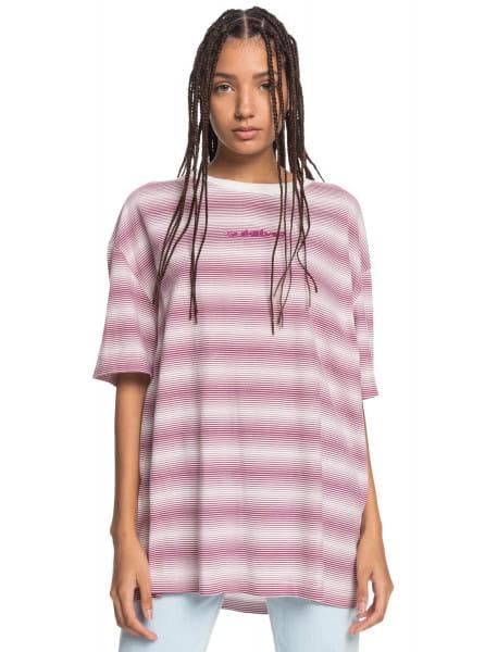 Розовый женская футболка fair mood
