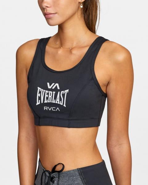 Жен./Одежда/Майки и топы/Спортивные топы Женский спортивный топ бра со средней степенью поддержки Everlast x RVCA
