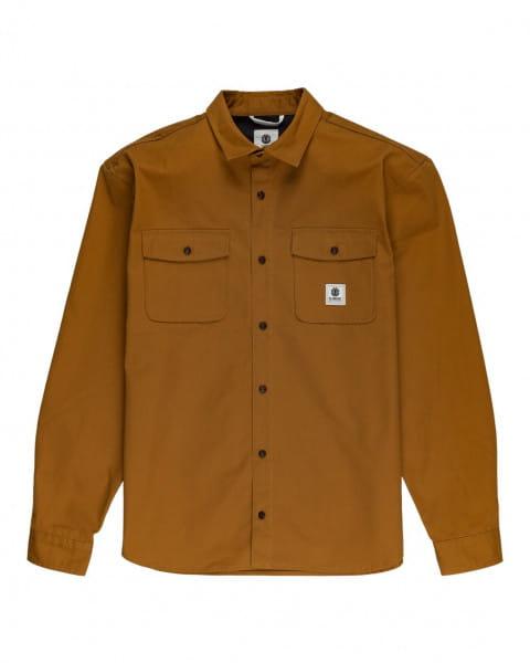 Серый мужская рубашка с длинными рукавами builder repreve