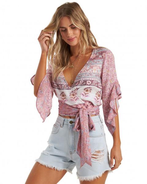 Жен./Одежда/Блузы и рубашки/Блузы Женский топ с запахом Summer Glow