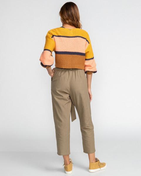 Жен./Одежда/Джинсы и брюки/Зауженные брюки Женские брюки с высокой талией Sand Stand