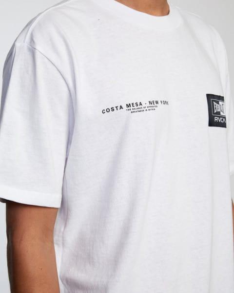 Белый мужская футболка everlast x rvca