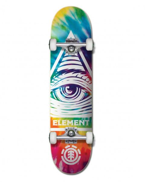 "Коричневый скейтборд eye trippin rainbow 8"""