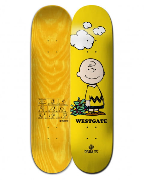 "Мультиколор дека для скейтборда peanuts charlie brown x westgate 8"""