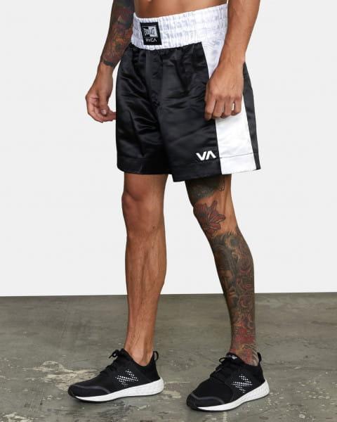 Черный мужские боксерские шорты everlast x rvca