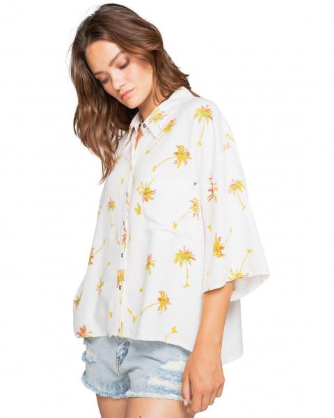 Жен./Одежда/Блузы и рубашки/Рубашки с коротким рукавом Женская рубашка оверсайз с короткими рукавами Isa Island