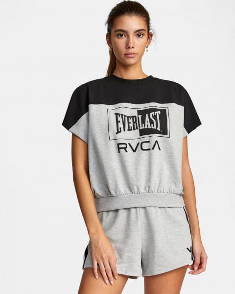 Серый женский укороченный топ everlast x rvca