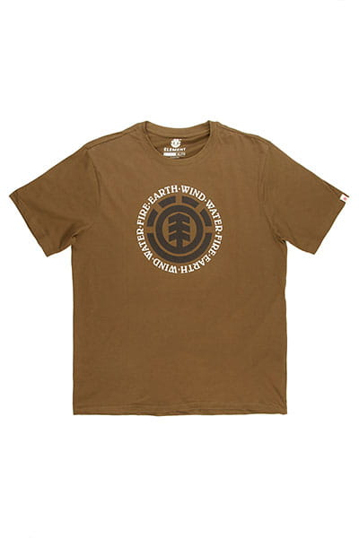 Зеленый мужская футболка с короткими рукавами seal