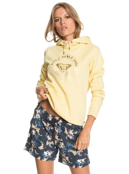 Желтый женские льняные шорты another kiss