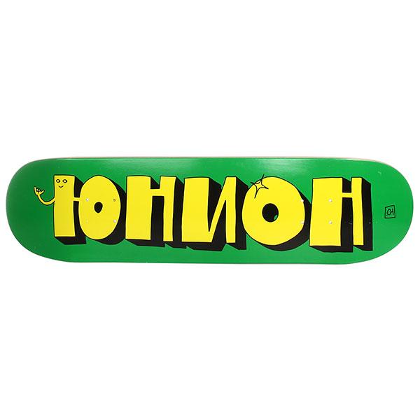 /Скейтборд/Деки для скейтборда/Деки для скейтборда Дека для скейтборда Юнион Team1 Green Yellow 32.125 x 8.3 (21.1 см)