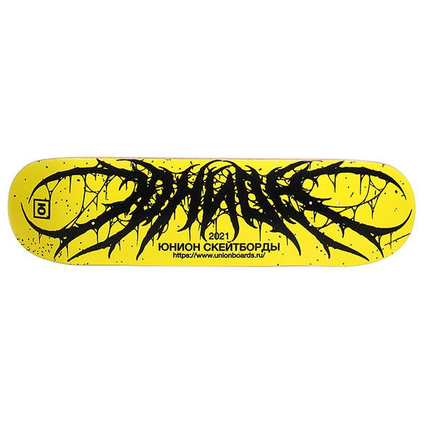 /Скейтборд/Деки для скейтборда/Дека для скейтборда Дека для скейтборда Юнион Team2 yellow Black 33 x 8.5 (21.6 см)