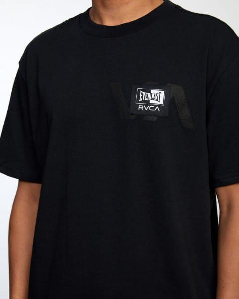 Белый мужская футболка everlast x rvca stack patch