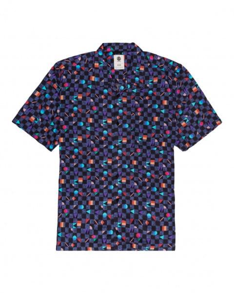 Серый мужская рубашка с короткими рукавами outfun