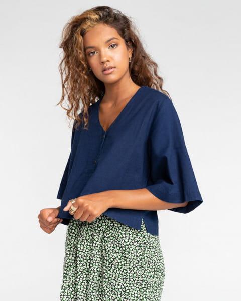 Жен./Одежда/Блузы и рубашки/Рубашки с коротким рукавом Женская рубашка с короткими рукавами Salto Indigo