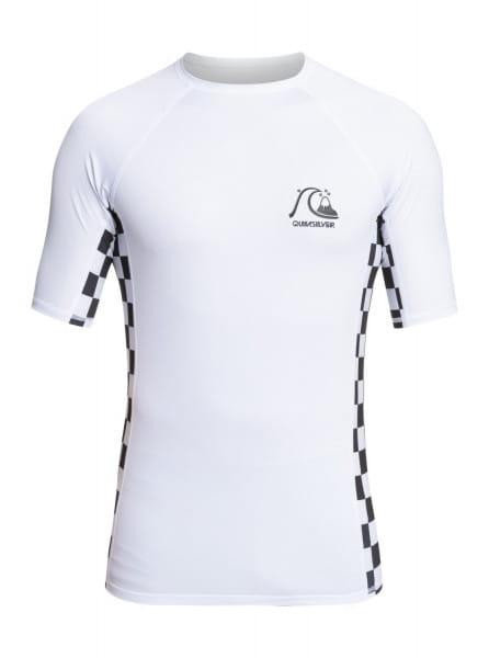 Белый мужской рашгард с коротким рукавом arch this upf 50