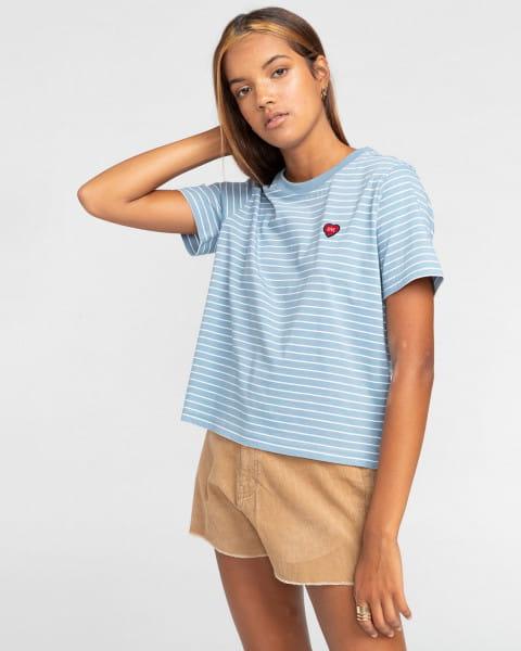 Голубой женская футболка paula