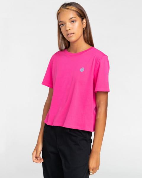 Голубой женская футболка positivity crop