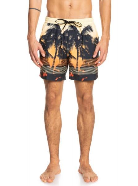 Бордовый мужские плавательные шорты sunset