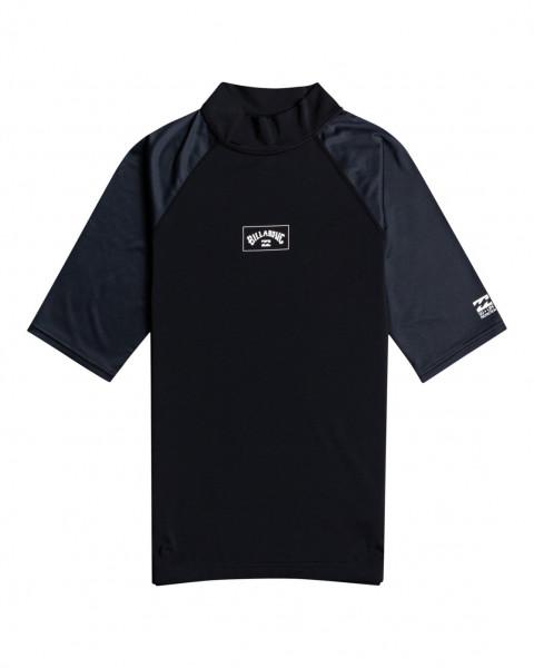 Серый мужской рашгард с короткими рукавами и фактором защиты от уф-излучения 50 contrast