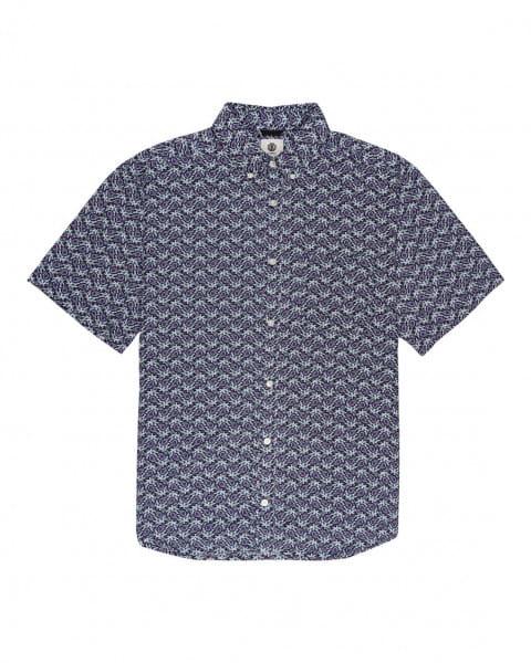 Серый мужская рубашка с короткими рукавами glastonbury