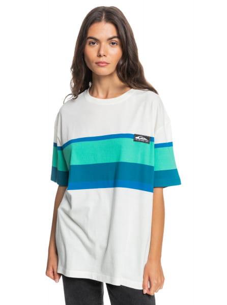 Бирюзовый женская футболка quiksilver womens surf heritage