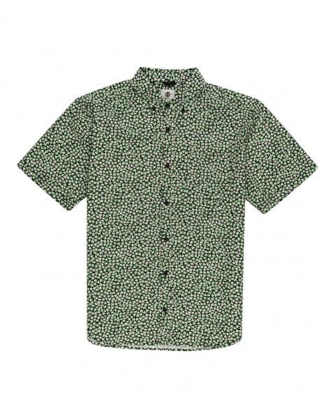 Серый мужская рубашка с короткими рукавами meadow