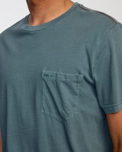 Зеленый мужская футболка с карманом на груди ptc 2 pigment