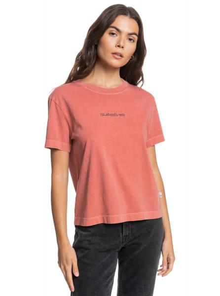 Бирюзовый женская футболка quiksilver womens