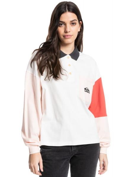 Белый рубашка-поло с длинным рукавом culture icon