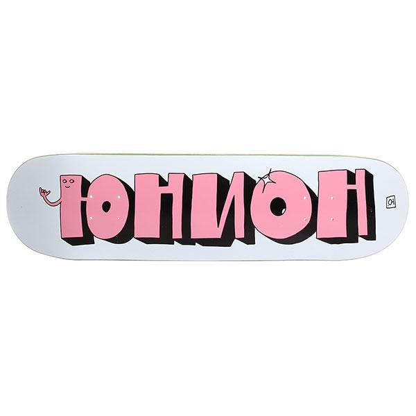 Унисекс/Скейтборд/Деки для скейтборда/Деки для скейтборда Дека для скейтборда Юнион Team1 Grey Pink 31.875 x 8.125 (20.6 см)