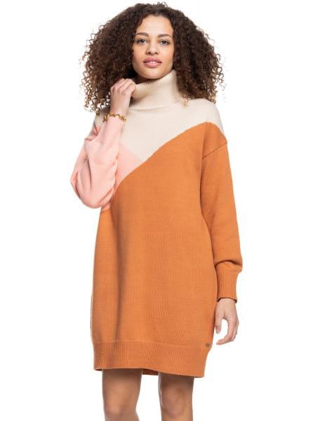 Оранжевый платье с длинным рукавом full of colours