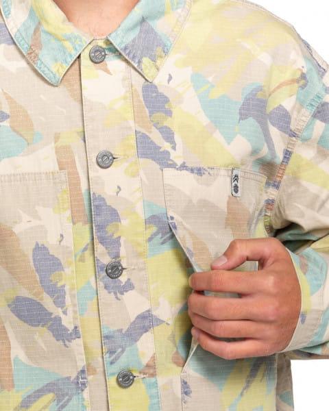 Оранжевый мужская верхняя рубашка nigel cabourn summer