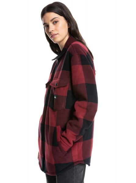 Жен./Одежда/Верхняя одежда/Демисезонные куртки Флисовая куртка-шакет Quiksilver Womens Surfer Area