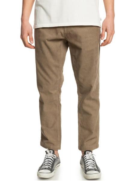 Бежевый вельветовые брюки disaray
