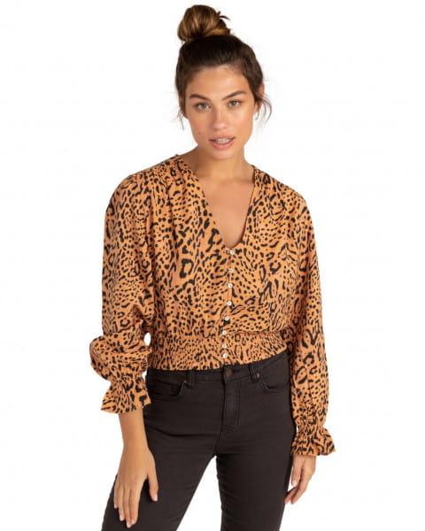 Коричневый женская блуза indian summer