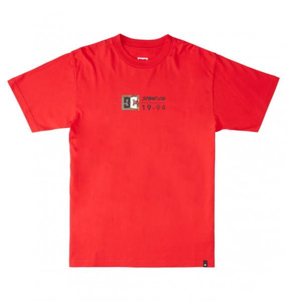 Красный футболка dc split star