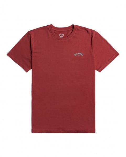 Розовый мужская футболка arch wave