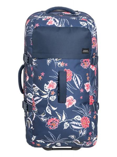 Синий чемодан на колесах fly away too 100l