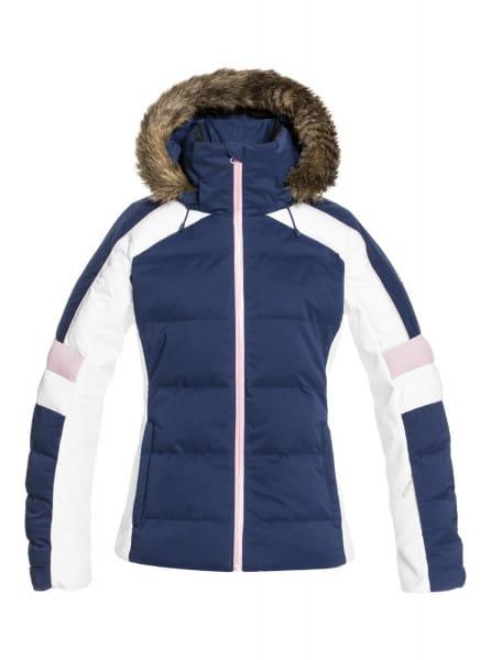 Белый сноубордическая куртка snow blizzard