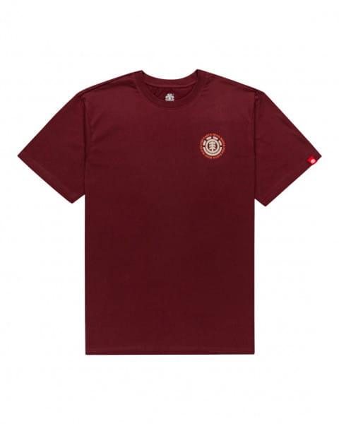 Бордовый мужская футболка seal
