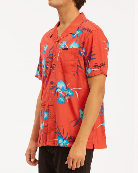Муж./Одежда/Рубашки/Рубашки с коротким рукавом Мужская рубашка с короткими рукавами Bud Vacay