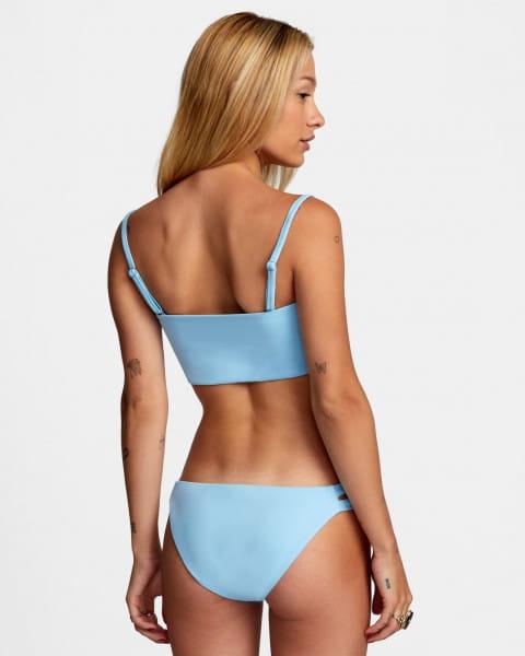 Синие женские сплошные плавки solid