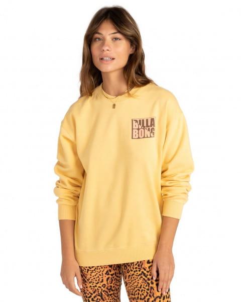 Желтый женский свитшот tropic shore